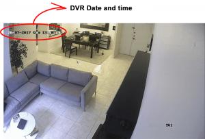 DATA która wyświetla rejestrator DVR